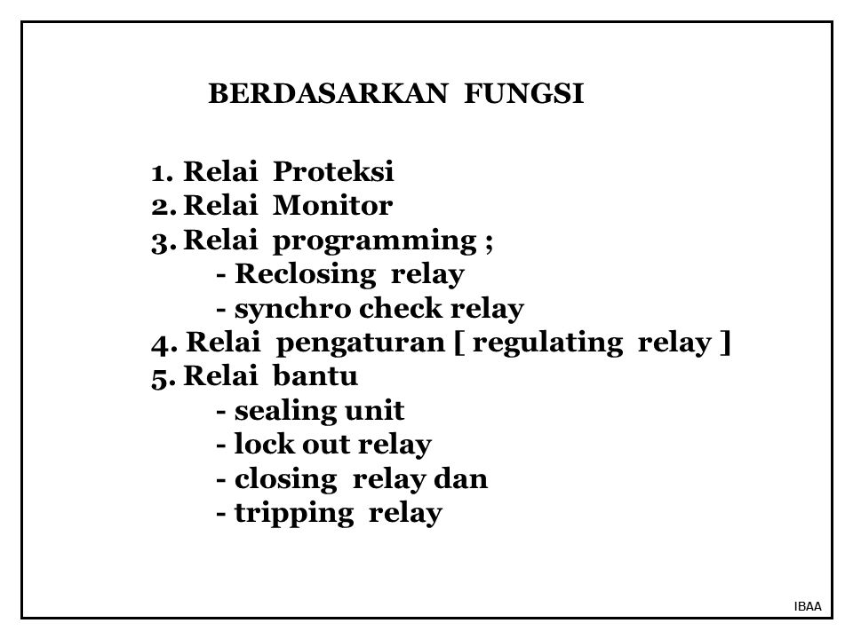 4. Relai pengaturan [ regulating relay ] Relai bantu - sealing unit